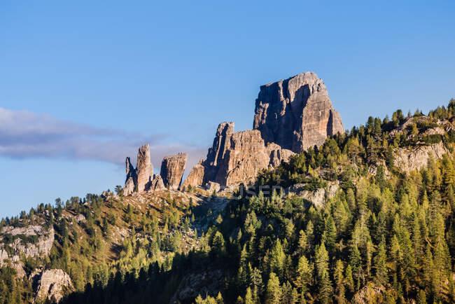 Cinque Torri, Dolomites, Belluno, Italy — Stock Photo