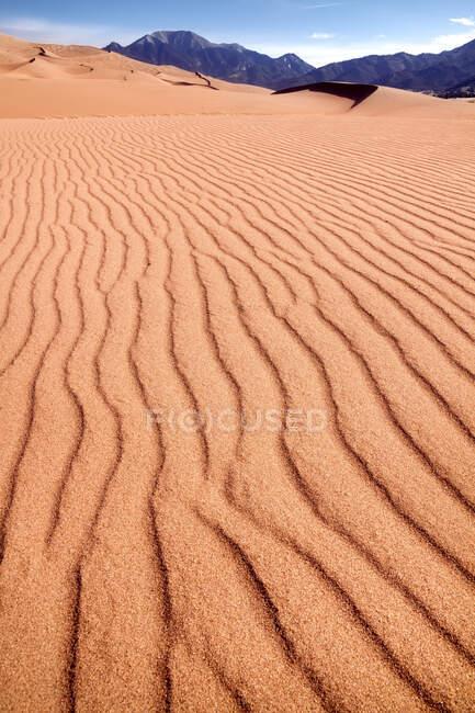 Ландшафт пустыни, Национальный парк Великие Дюны, Колорадо, США — стоковое фото
