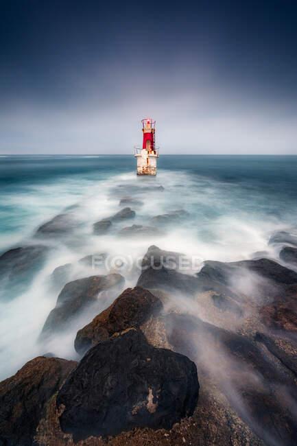 Lighthouse, San Vicente de la Barquera, Santander, Cantabria, Spain — Stock Photo