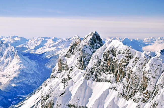 Mountain landscape view from Mount Titlis, Switzerland — Stock Photo