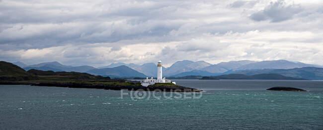 Eilean Musdile Lighthouse, Lismore Island, Argyll and Bute, Escocia, Reino Unido - foto de stock