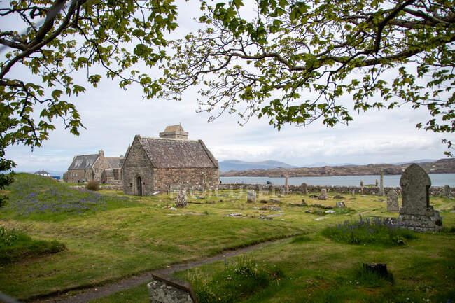 Capilla y cementerio de San Orán, Iona Inner Hebrides, Escocia, Reino Unido - foto de stock