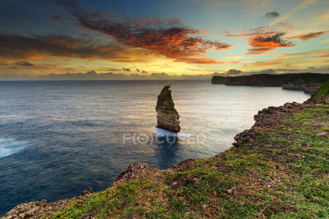 Bile Sayak beach, Gunung Tunak Nature Park, Кута-Мандалика, Индонезия — стоковое фото