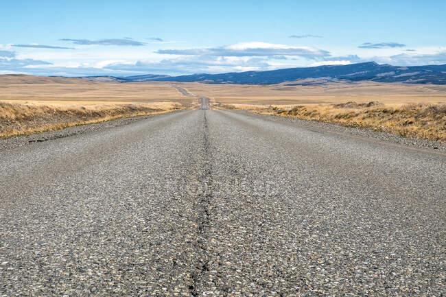 Route 40 route à travers le paysage rural, Argentine — Photo de stock
