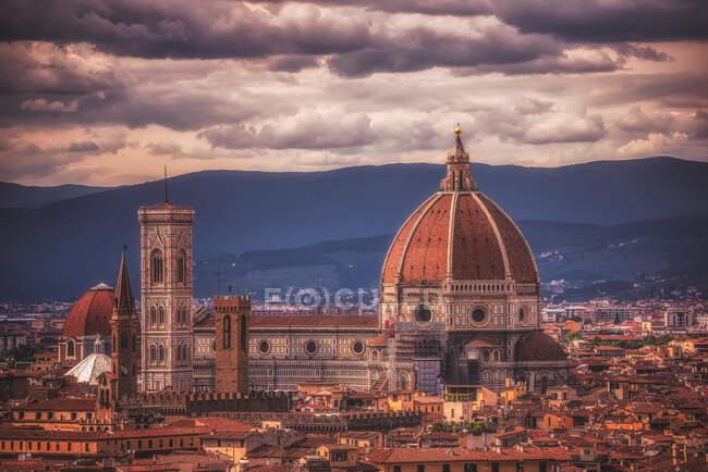 Cityscape with the Duomo, Florença, Toscana, Itália — Fotografia de Stock
