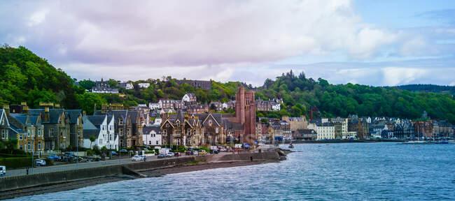 Centro histórico de la ciudad y paseo marítimo, Oban, Argyll y Bute, Escocia, Reino Unido - foto de stock