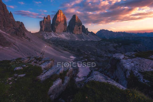Tre Cime di Lavaredo, Alto Adige, South Tyrol, Italy — Stock Photo