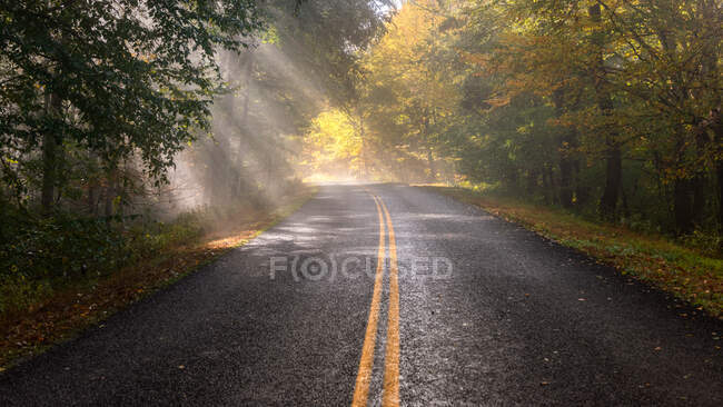 Blue Ridge Parkway, Linville Falls, North Carolina, USA — Stock Photo
