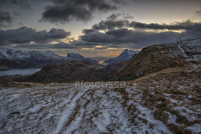 Paesaggio montano, Lofoten, Nordland, Norvegia — Foto stock