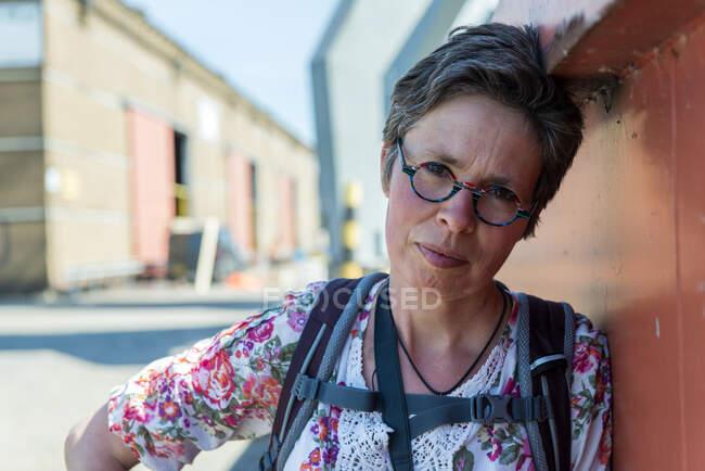 Портрет жінки з порту Роттердама (Нідерланди). — стокове фото