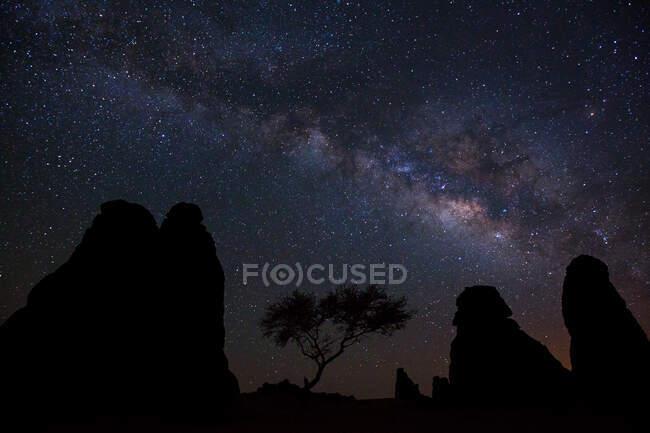 Чумацький шлях у небі — стокове фото