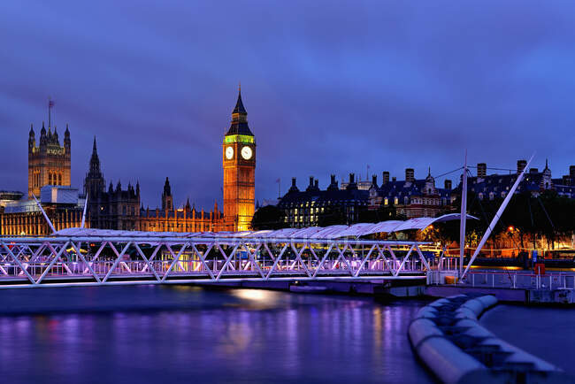 Big Ben at Twilight, Londra, Inghilterra, Regno Unito — Foto stock