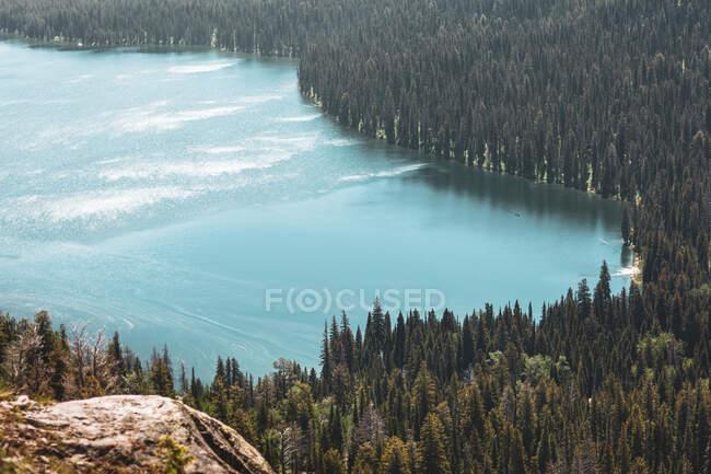 Veduta aerea del lago alpino, Wyoming, Stati Uniti — Foto stock