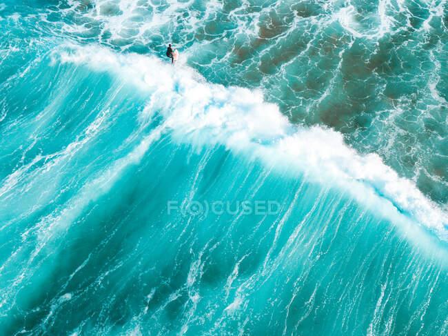 Вид сёрфера с воздуха, Barwon Heads, Белларинский полуостров, Виктория, Австралия — стоковое фото