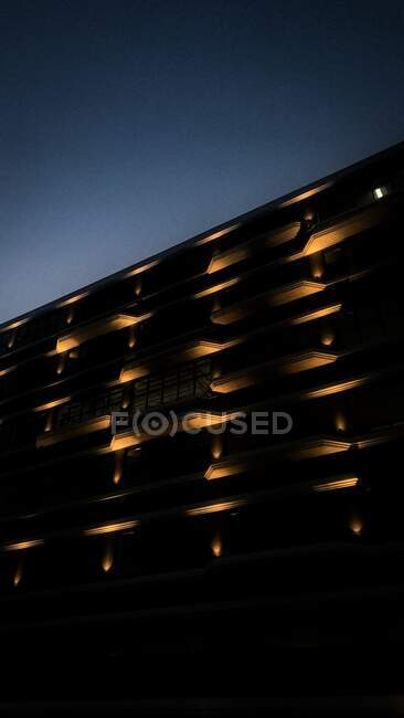 Close-up of a building with the lights on, Cape Town, South Africa — Stock Photo