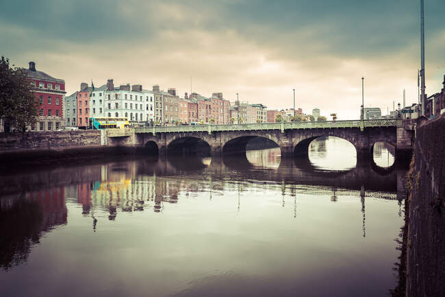 O'Connell Bridge sul fiume Liffey, Dublino, Irlanda — Foto stock