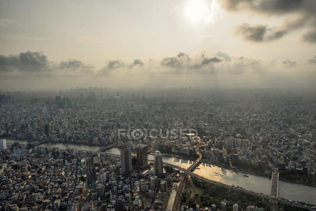 Вид з повітря (Токіо, Гонсю, Японія). — стокове фото