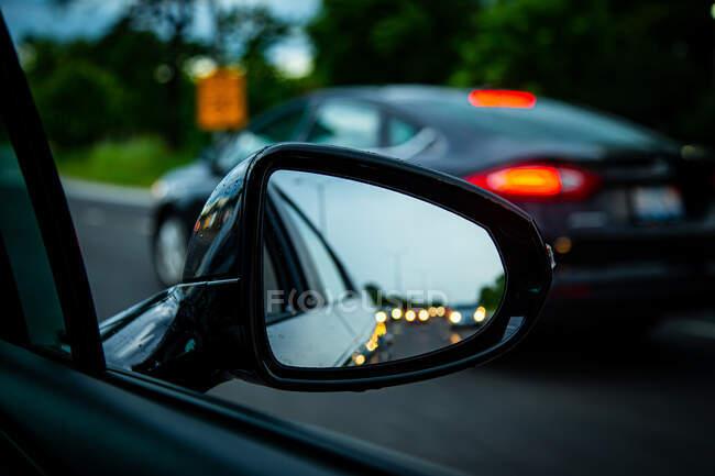 Відбиток дзеркала у заторі, Сполучені Штати Америки. — стокове фото