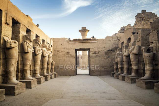 Ramses II statues, Karnak Temple, Karnak, Luxor, Egypt — Stock Photo