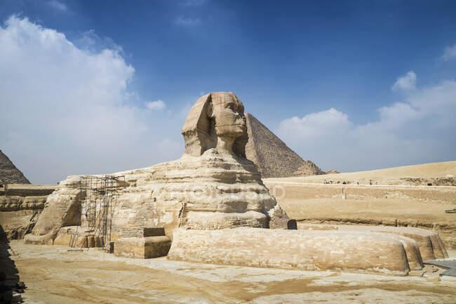 La grande Sfinge e piramide, Giza vicino al Cairo, Egitto — Foto stock