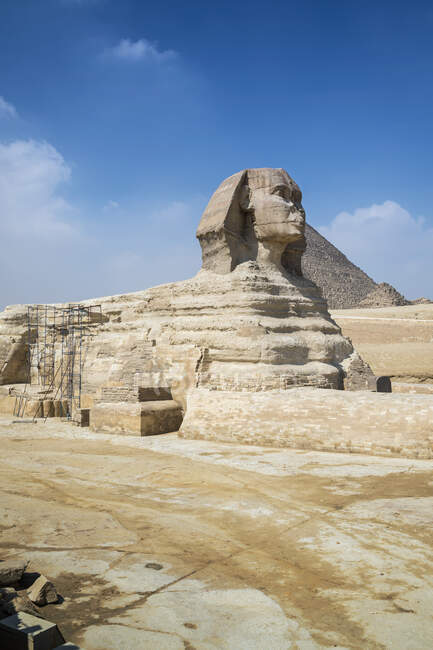 View of great Sphinx, Giza near Cairo, Egypt — Stock Photo
