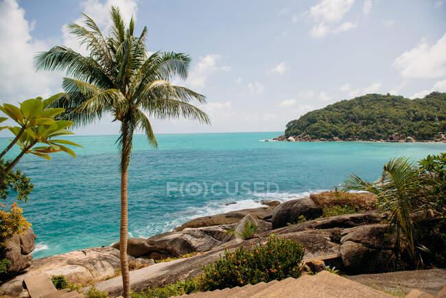 Tropical beach, Koh Samui, Thailand — Stock Photo