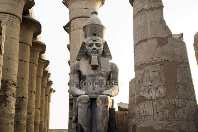 Рамес II статуя, храм розкоші, розкоші, егіпт — стокове фото