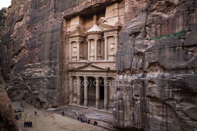 Казначейство, Петра, Йорданія — стокове фото