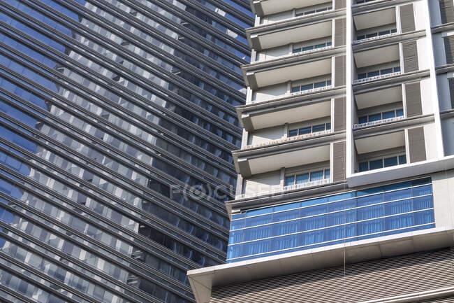 Primo piano dei grattacieli, Indonesia — Foto stock
