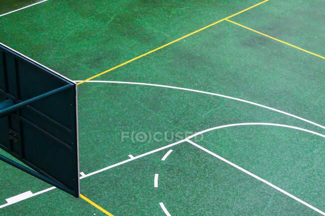 Close-up de uma quadra de basquete — Fotografia de Stock
