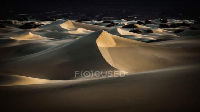 Mesquite Flat Sand Dunes, Death Valley, Californie, États-Unis — Photo de stock