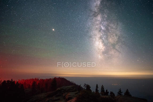 Milky Way over Sequoia National Park, California, United States — Stock Photo