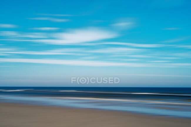 Vista astratta di una spiaggia, Juist, Bassa Sassonia, Germania — Foto stock