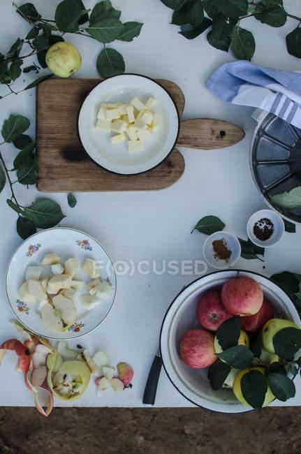 Ingredienti per la torta di mele irlandese — Foto stock
